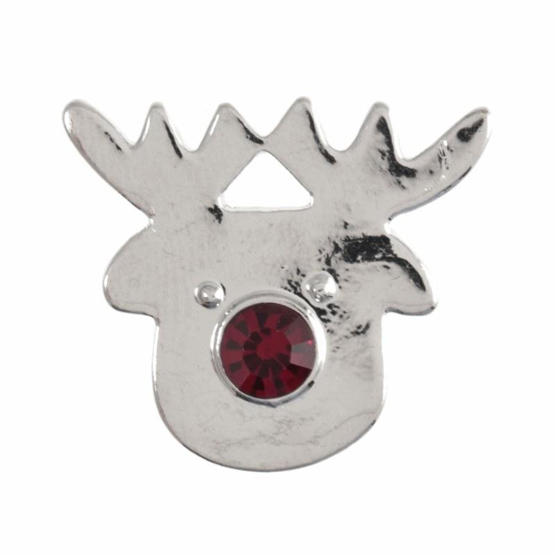 Button - Xmas Diamante Rudolph
