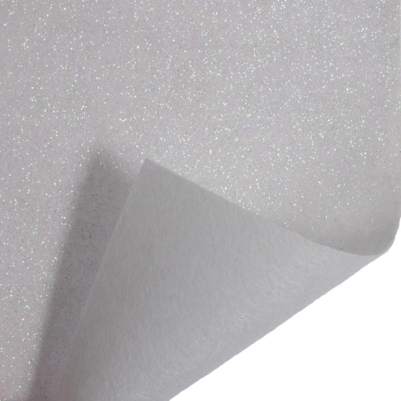 Glitter Felt Roll White