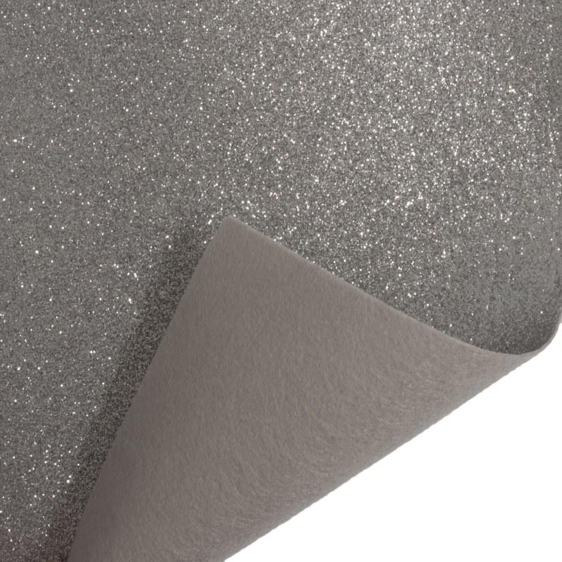 Glitter Felt Roll Silver