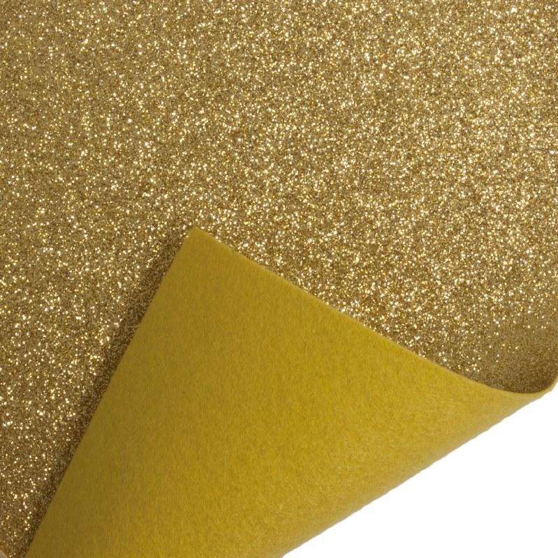 Glitter Felt Roll Gold