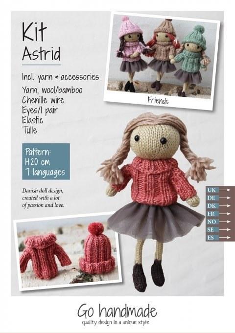 Knitting Kit Astrid Brown/Red