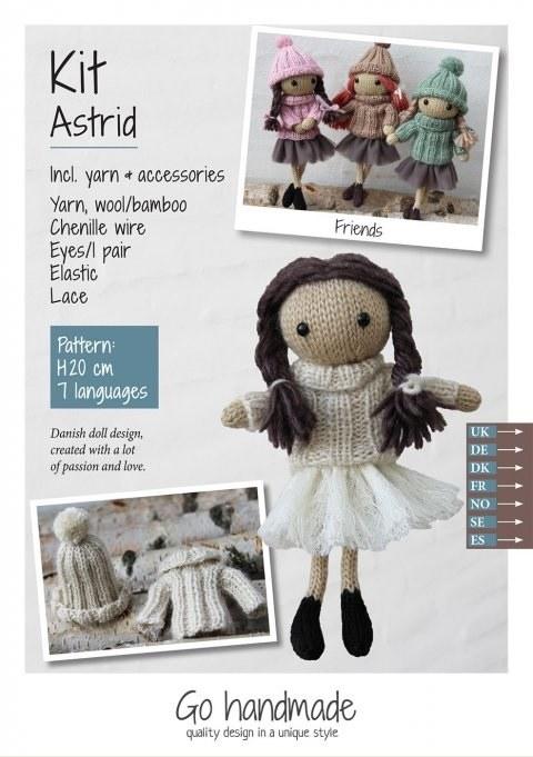Knitting Kit Astrid Brown/Whit