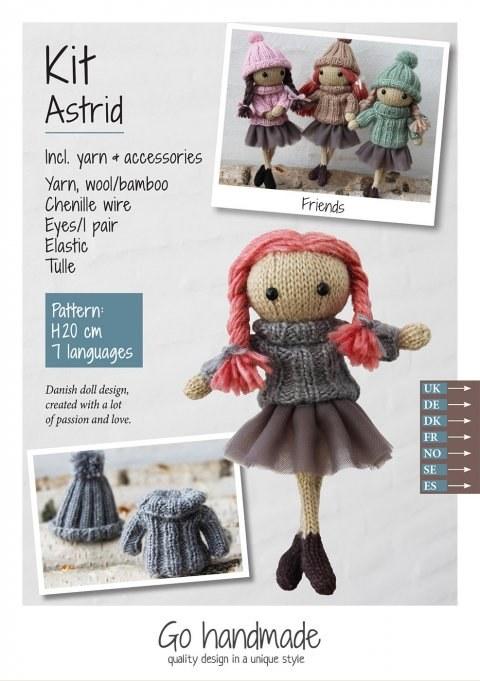 Knitting Kit Astrid Red/Grey