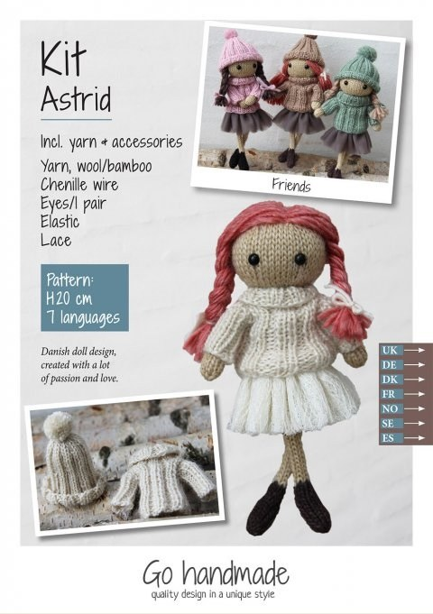 Knitting Kit Astrid Red/White