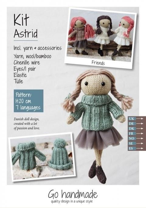 Knitting Kit Astrid Brown/Gree
