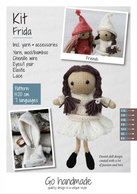Knitting Kit Frida Brown/white