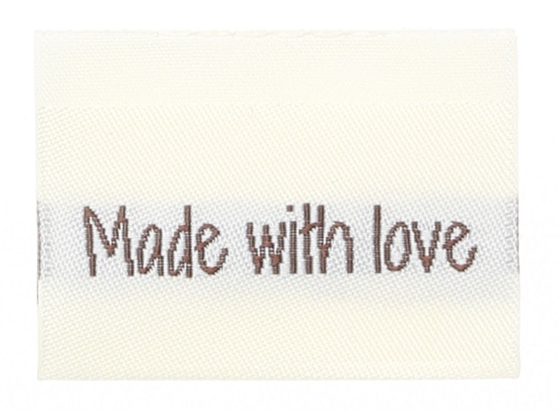 """Woven label """"made with love"""""""