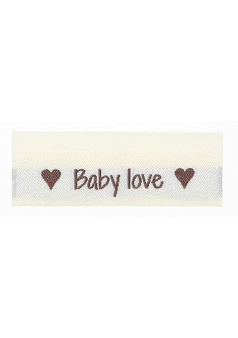 """Woven label """"Baby Love"""""""