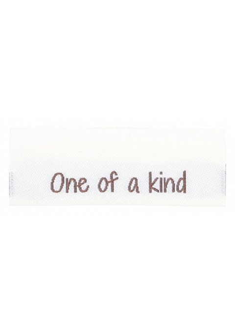 """Woven label """"One of a kind"""""""