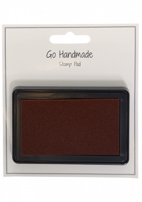 Knitters rubber stamp pad brow