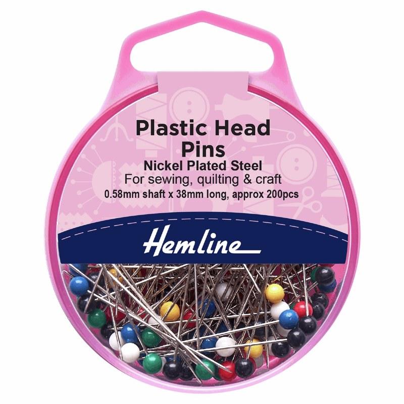 Hemline Plastic Head Pins