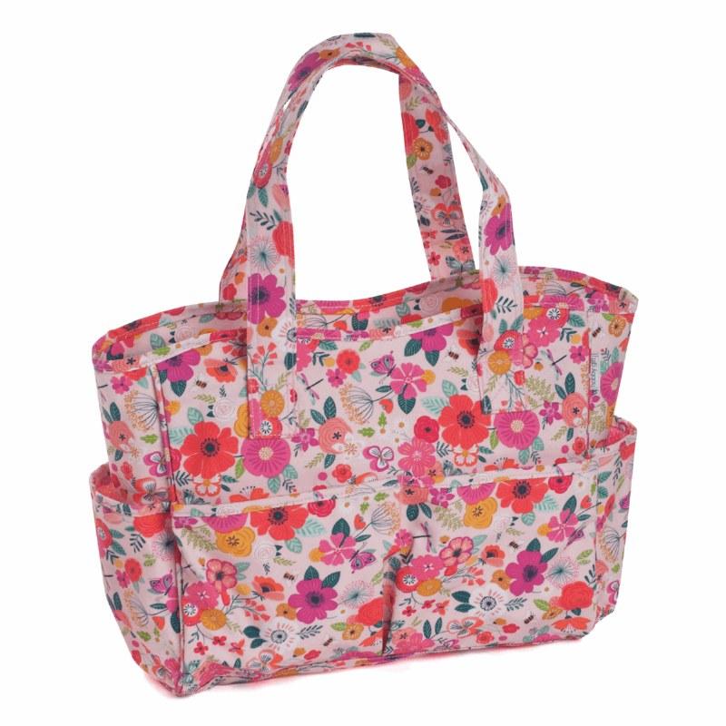 Knitting Bag PVC Floral Garden