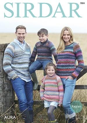 Sirdar 7884 Sweaters in Aura