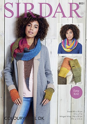 Sirdar 8031 Snood, Wrap & Mitt