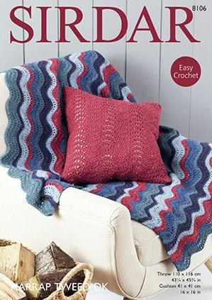 Sirdar 8106 Throw & Cushion