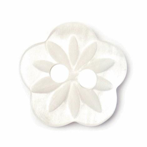 Button Flower 13mm White
