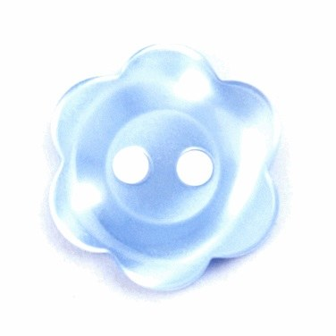 Button Flower 15mm Blue