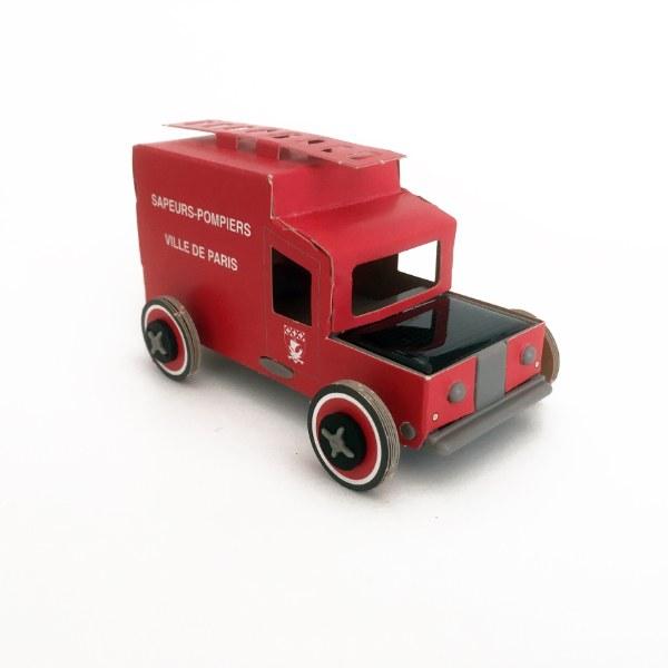 Litogami Solar Car Fire Truck