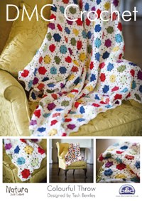 DMC Crochet Colourful Throw
