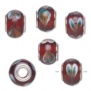 Bead Glass Dark Red