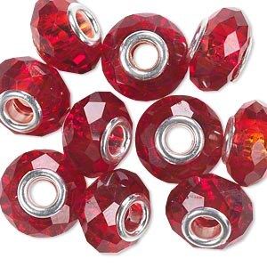 Bead Crystal Red 15x8