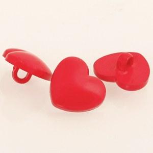Drops Button 553 Heart 15mm