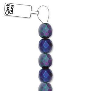 4mm Czech Glass Blue Iris