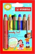 Stabilo Woody 3-in-1 6-pack