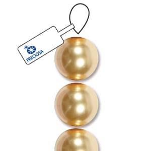 Bead Preciosa 3mm Pearl Gold