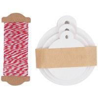Gift Tags Round White x 30