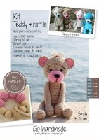 Crochet Kit Teddy & Rattle B/P