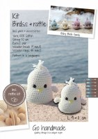 Crochet Kit Baby Birds White