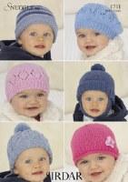Sirdar 1711 Hats in Snuggly dk