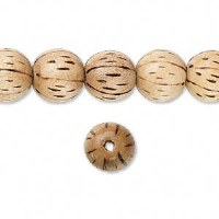 Bead wood burnt 11mm round