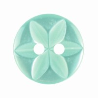 Button Star Round 14mm Lt Gree