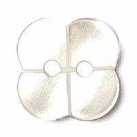 Button 15mm 2-hole White