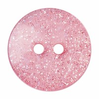 Button Glitter Light Pink 18mm