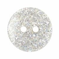 Button Glitter White 13mm