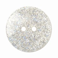 Button Glitter White 18mm