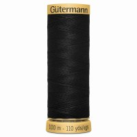 Gutermann Thread Cotton Black