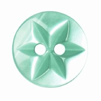Button Star Design 15mm G Turq