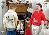KC 3806 Reindeer Cardigan Kids