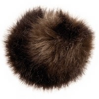 Rico Fake Fur Pompom 10cm Dark