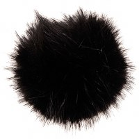 Rico Fake Fur Pompom 10cmBlack