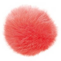 Rico Fake Fur Pompom 10cmCoral