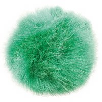 Rico Fake Fur Pompom 10cm Gree