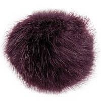 Rico Fake Fur Pompom 10cmAuber