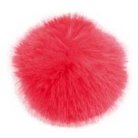 Rico Fake Fur Pompom 10cm Red
