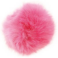 Rico Fake Fur Pompom 13cm Fuch
