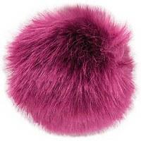Rico Fake Fur Pompom 13cm Berr